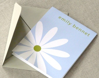Personalized Stationery Set - personalized stationary set - notecards - thank you notes - just one daisy