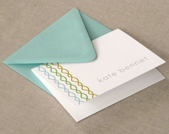 Personalized Stationery Set - personalized stationary set - thank you notes -note cards - couple stationery - twisted