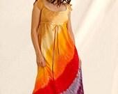 XL Custom Tie Dye Regency Hippie Dresses
