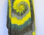 Tie Dye Rayon Poncho in Greens