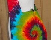 Tie Dye Rainbow Swirl Hobo Hippie Bag