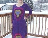 Tie Dye Deep Purple Heart Dress