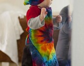 Rainbow Tie Dye Children's Chef Hat and Apron