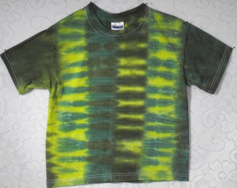 Tie Dye Alligator Green Shirt for kids