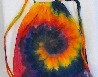 Tie Dye Rainbow Drawstring Backpacks
