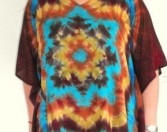 Tie dye Painted Desert Light Rayon Poncho
