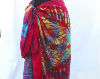 Sarong Tie Dyed with stunning Red Mandala