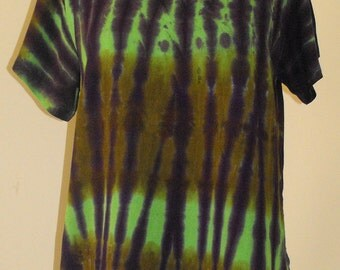 Tie Dye Blouse in Purple and Greens