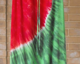 Watermelon Dress Tie Dye Regency Hippie Dress