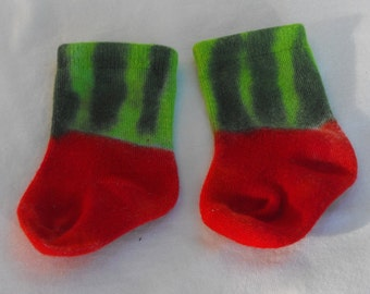 Watermelon Tie Dye Bamboo Socks for Infants and Toddlers