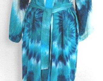 Robe in Gorgeous Seafoam Blues