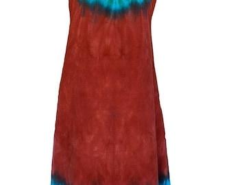 Tie Dye Desert Oasis Tank-style dress