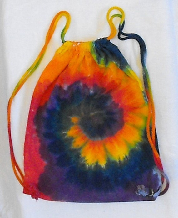 Tie Dye Rainbow Drawstring Backpacks