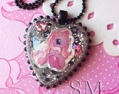My Little Pony - pink horse heart resin necklace