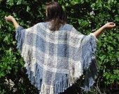 Country Sky - Handwoven triloom shawl