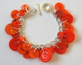 Button Bracelet Pumpkin Orange