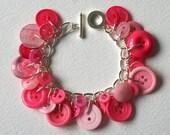 Candy Pink Sweet Treat Button Bracelet