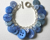 Button Bracelet Periwinkle Blue