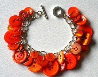 Tropical Orange Button Bracelet