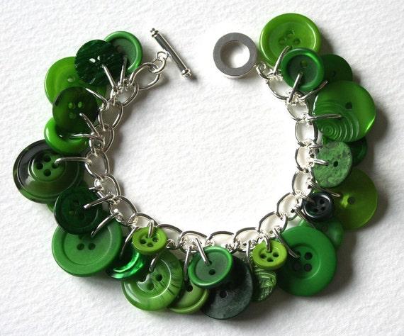 Green Green Grass Of Home Button Bracelet