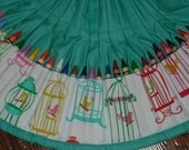 Bird Cage Crayon apron - ChildishThoughts