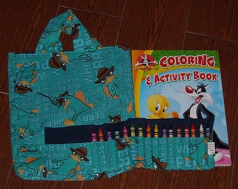 Perry the Platypus Crayon Roll Set