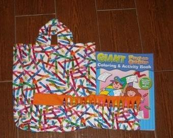 Crayons crayon roll set
