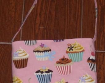 Pink cupcake toddler purse