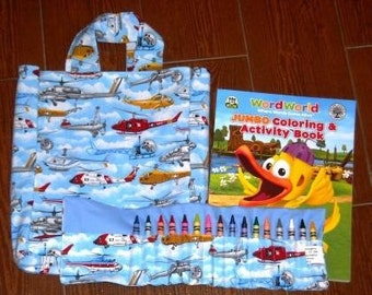 Helicopters crayon roll set
