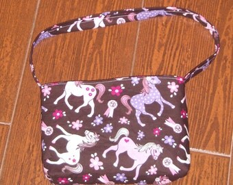 Sweet pony toddler purse
