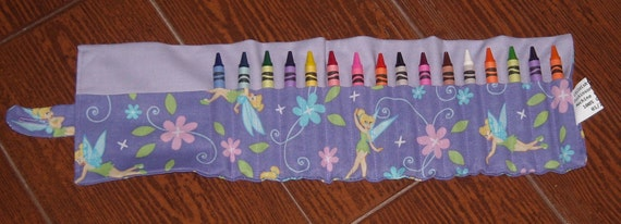 Tinkerbell crayon roll