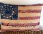 Primitive Americana prim flag pillow