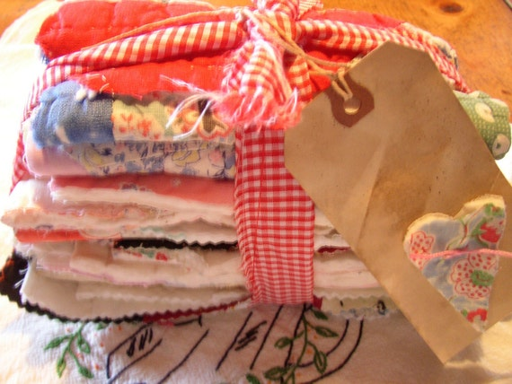 destash vintage quilt BITS N PIECES  small  crafts projects cplg where rustics reign etsy folk ab4b