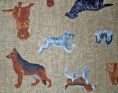 I love dogs cotton fabric