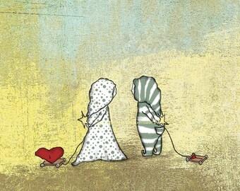 "Love Art Print ""I Bring Only This"", 8 x 10 Art Print, Children's Nursery Art, Baby Boy or Girl Art"