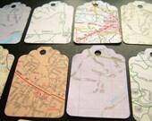 Vintage Map Gift Tags - Set of 20 - North Carolina