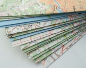 set of 12 recycled map envelopes