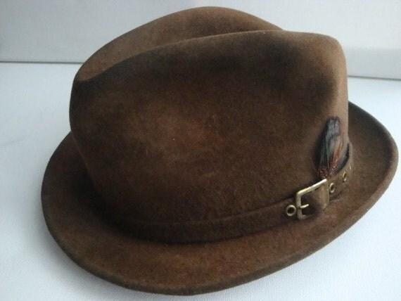 Vintage 70s mens Fleetwood fur felted hat