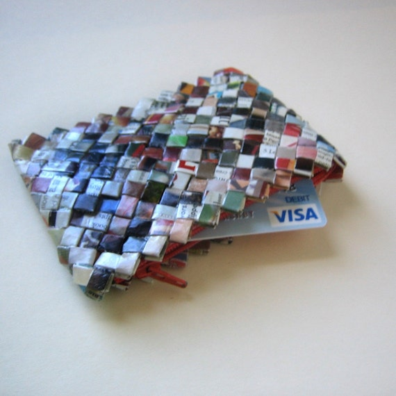 Eco-Chic Itty Bitty Coin Purse  - Reserved for Modest Ambition