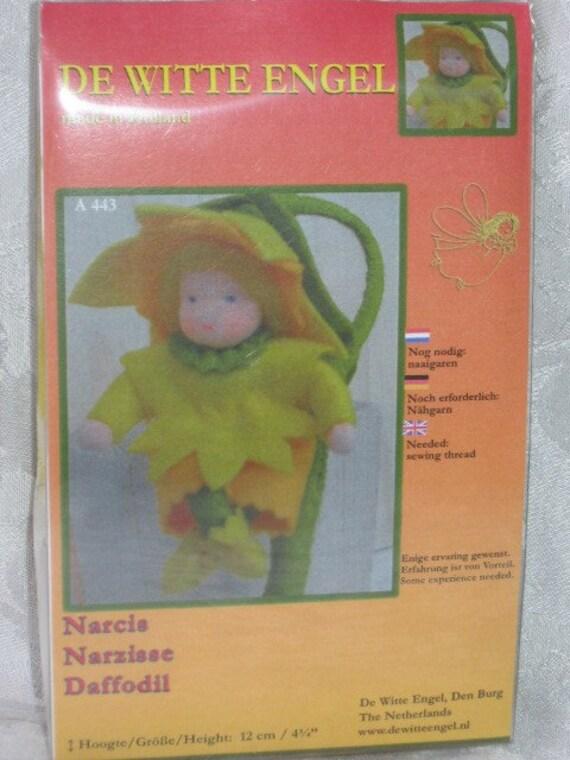 A Flower Child Doll -Waldorf  Doll Kit - De Witte Engel  Waldorf Doll Kits