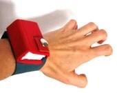 leather cuff Journal bracelet by strikebooks bookbinding original arts
