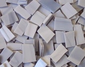 "Mosaic Tiles GREY Gray 1/2 - 1"" Stained Glass Tiles 50 pcs Mosaic Tile"