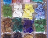 Mosaic Tiles SUPER SAMPLER 400 count 16 colors red blue pink yellow white orang green and more Tiles Stained Glass Mosaic Tile