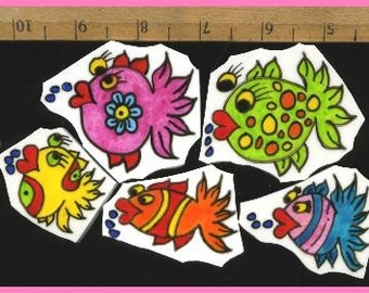 Mosaic Tiles One of a Kind FUNNY FISH Mosaic Tile