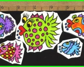 Mosaic Tiles DOODLEY Fish Mosaic Tile