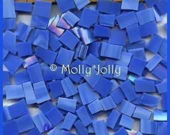 Mosaic Tile BRIGHT SKY BLUE Stained Glass 100 pcs Tiles