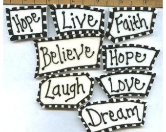 Mosaic Tile WORDS hp HANDPAINTED Tiles Faith Hope Love DREAM Mosaic Tiles