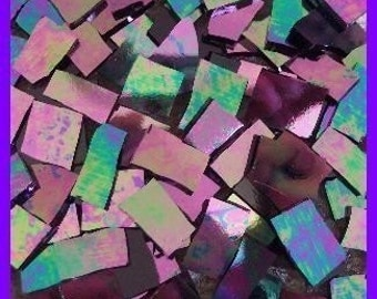 "Mosaic Tile HOT IRIDESCENT 1/2 - 1"" Stained Glass Mosaic Tiles"