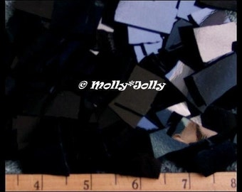 "Mosaic Tiles SOLID BLACK 50 pcs 1/2 - 1"" Stained Glass Mosaic Tile"