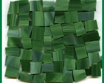 Mosaic Tile FUN FILLED GREEN 25 pcs Tiles Stained Glass Mosaic Tiles